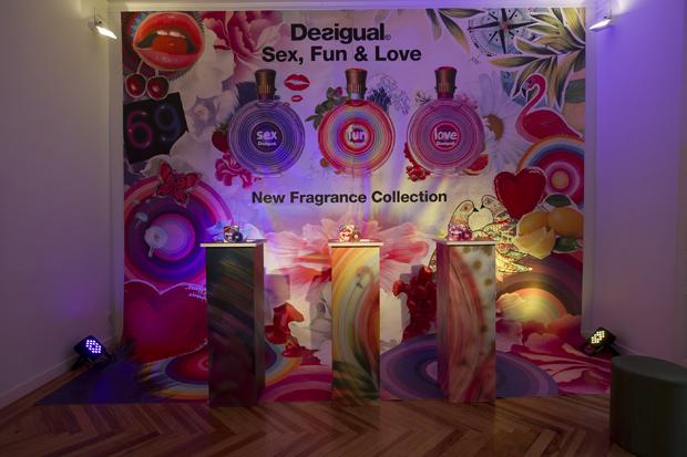 Presentación nuevos perfumes Sex Fun & Love, de Desigual.
