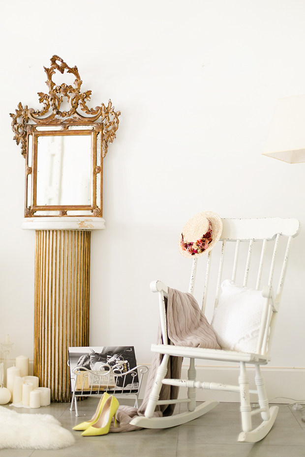 Deco shabby rocking chair mypeeptoes for Kenay home espejos