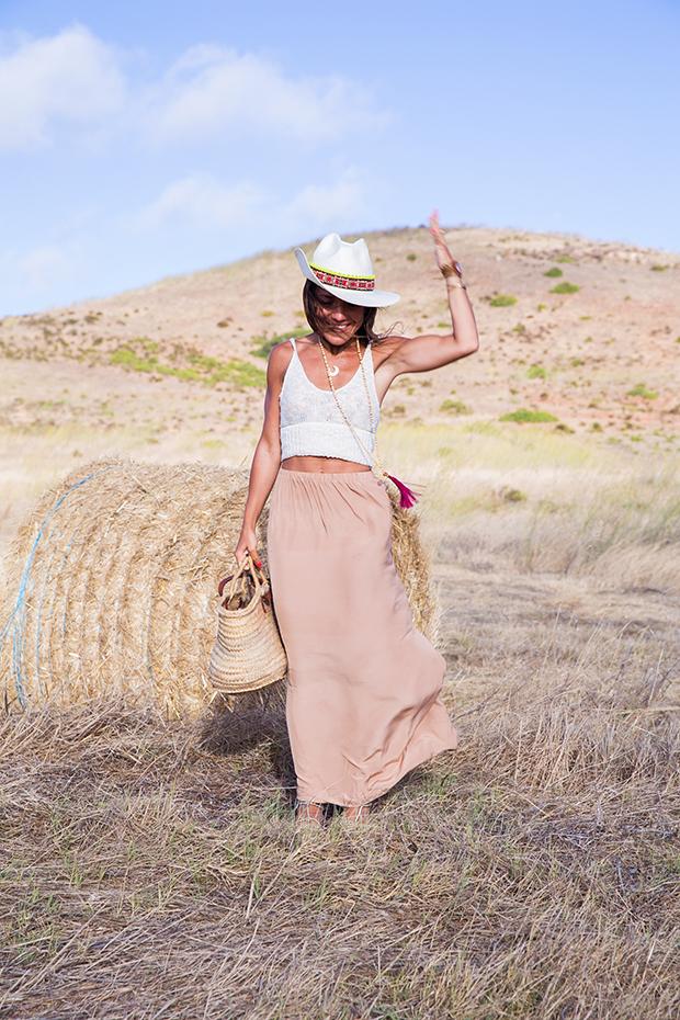 American vintage skirt bohocic hat 7