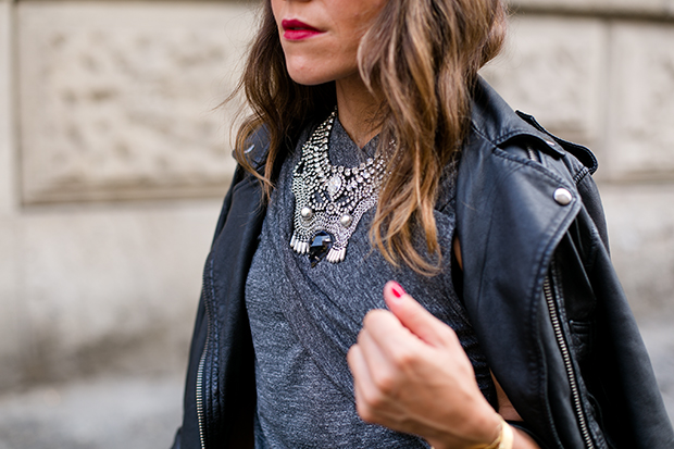 Super dry biker Muic necklace mfw 2
