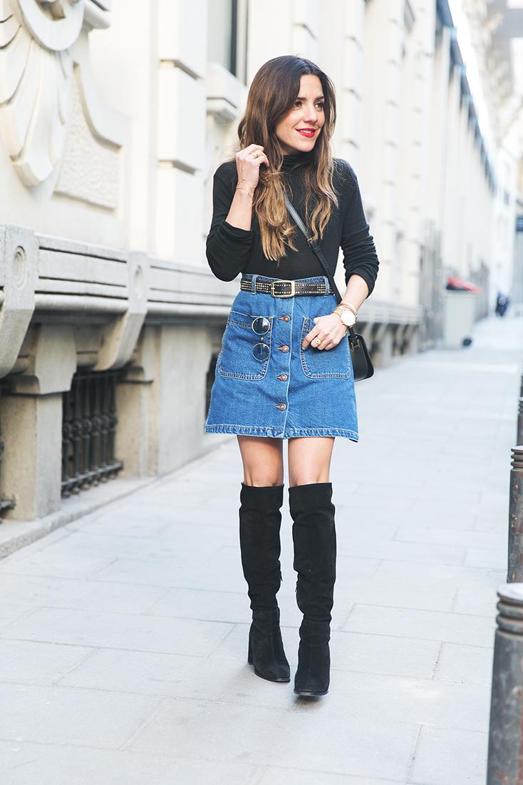 Madura de jean negro - 5 8