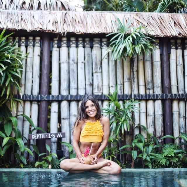 Enjoying de coconut life with my suboostyle bikini TravelWithMe