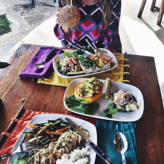 Tropical lunch at Coconuts Beach Best place in Samoa! Travelwithmehellip