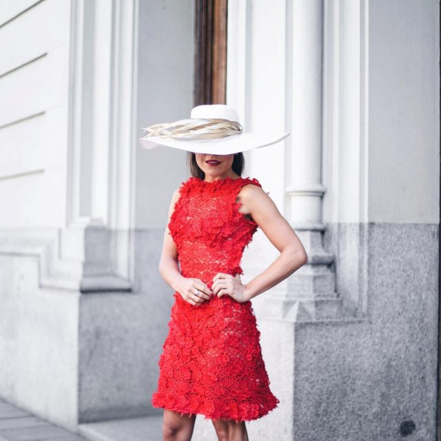 Ready for Anitas wedding  wearing mimokishop hat lorenaocampohautecouture dresshellip