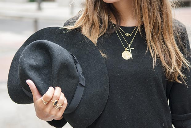 Jennifer zeuner sunny ruga black hat look 6