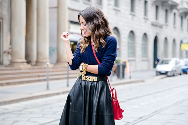 moschino zara mfw milan fashion week street style 1