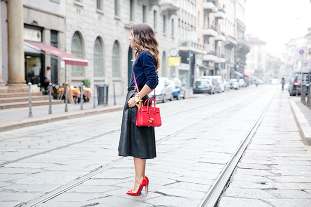 moschino zara mfw milan fashion week street style 10